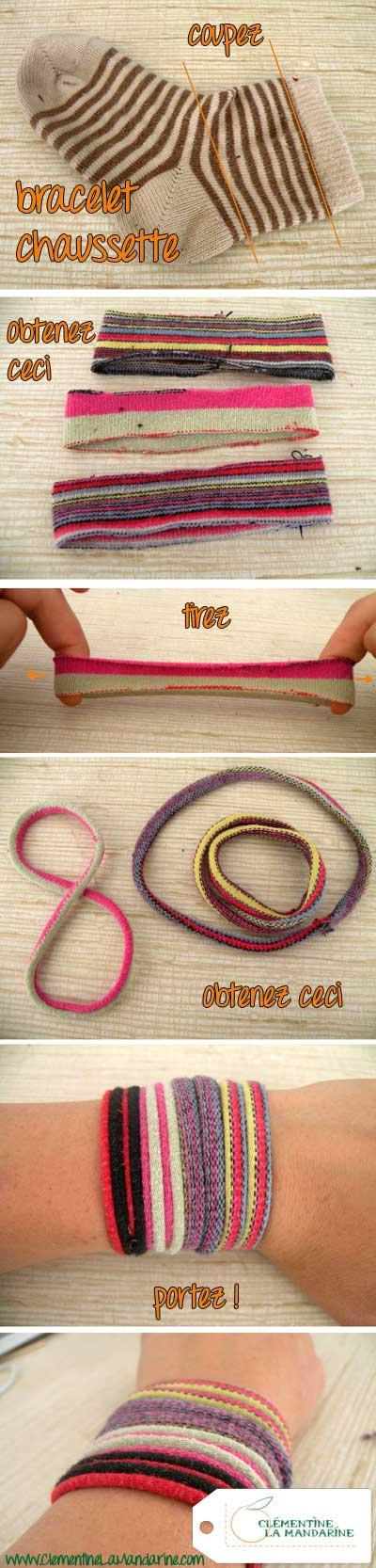 bracelet chaussette