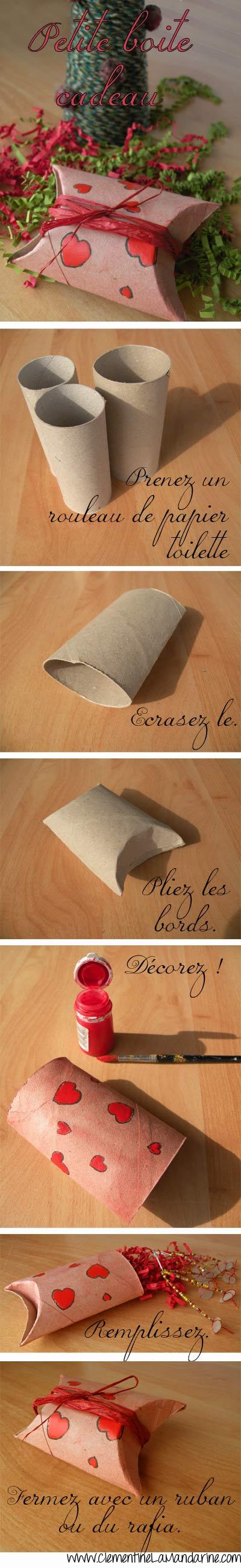 Boite cadeau en rouleau de papier toilette - tutoriel créatif