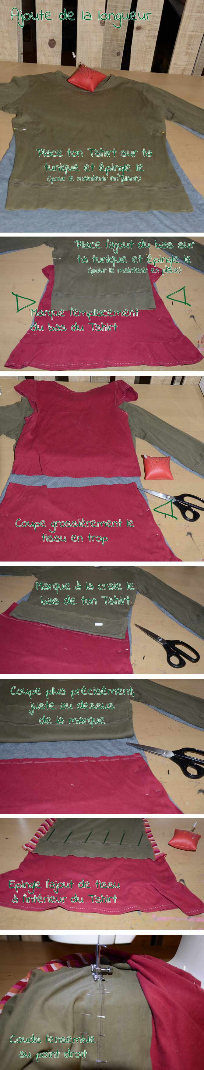 DIY: Transformer un Tshirt en tunique - coudre les côtés