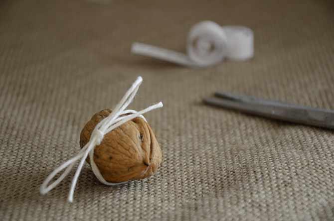 Calendrier de l'avent en coquille de noix