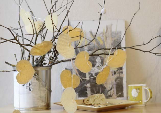 Guirlande de coeur en papier - DIY décoration