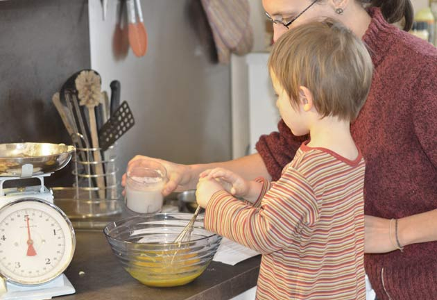 Laisser les enfants cuisiner