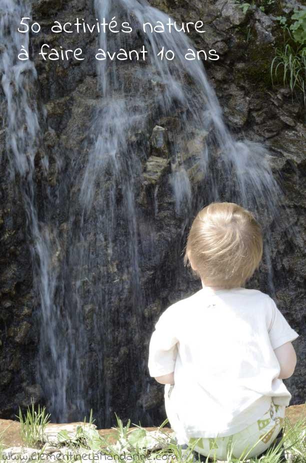 50 idées d'activités nature et très facile pour les jeunes enfants