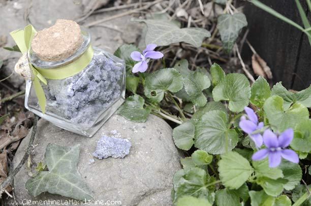 Rcette facile sucre à la violette 100% naturel