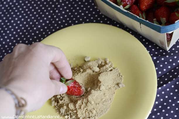 Sucre de canne complet et fraises