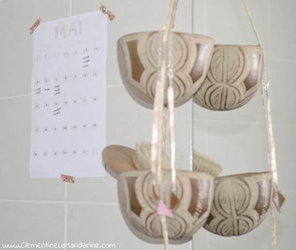 Calendrier pour s'organiser pour diminuer puis arrêter les shampoings, méthode no-poo