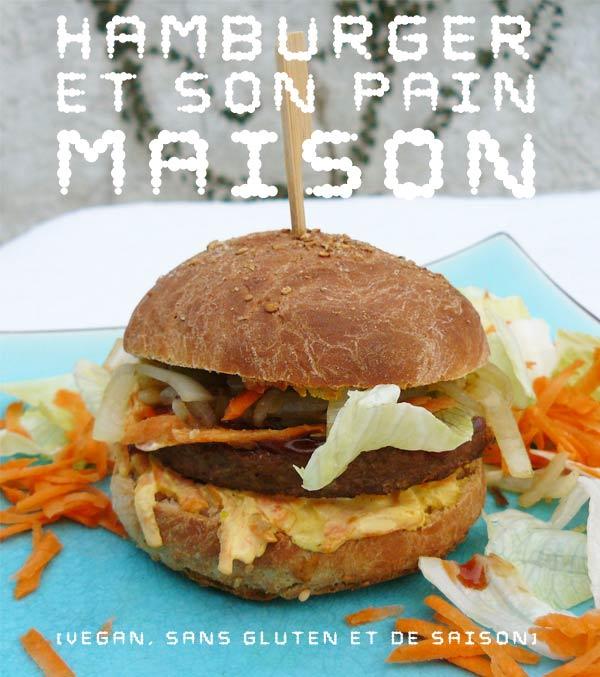 Hamburger et son pain vegan eco cr ateurs cl mentine - Herve cuisine hamburger ...