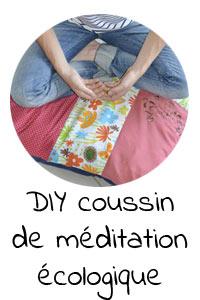 DIY coussin de méditation écologique
