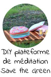 DIY plateforme de méditation écologique en bois de palette - Save the Green