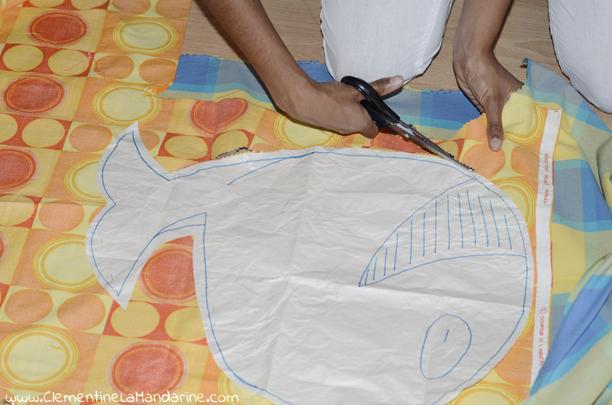 DIY coussin décoratif en forme de baleine écologique