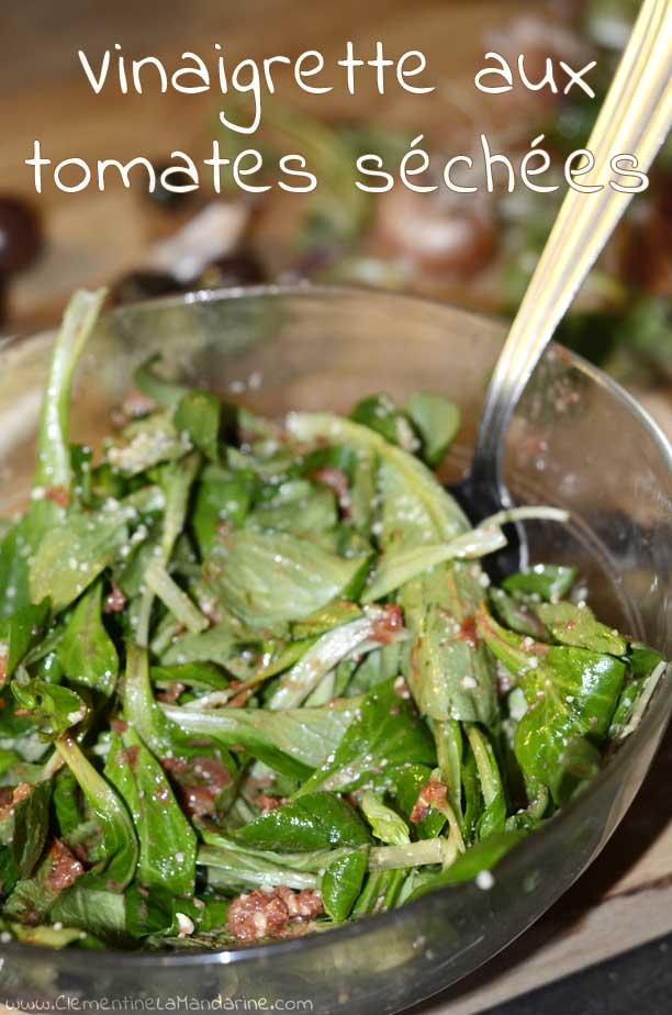 Vinaigrette végétalienne aux tomates séchées