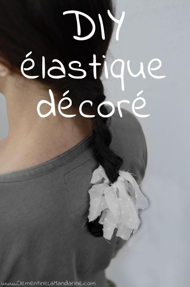 DIY élastique à cheveux décoré de chutes de tissu