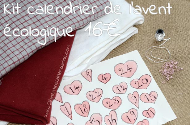 diy calendrier de l avent en chaussettes cousues cl mentine la mandarine. Black Bedroom Furniture Sets. Home Design Ideas