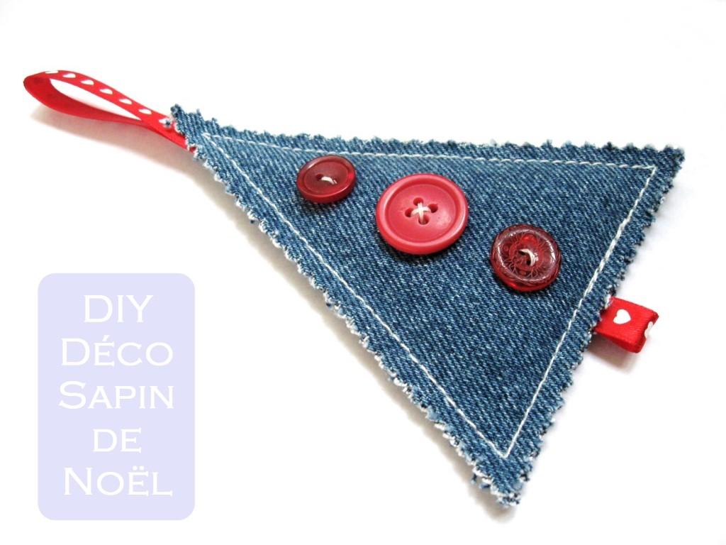decoration sapin de noel en jean DIY
