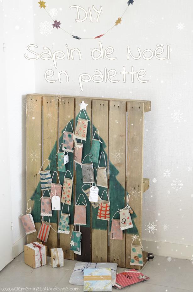 Sapin de Noël récup facile en palette