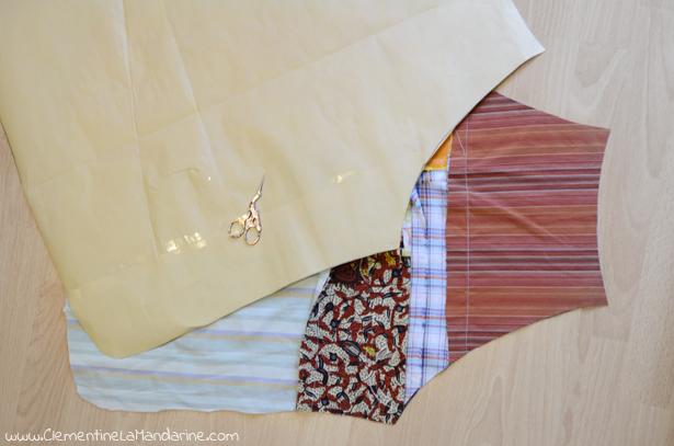 DIY tablier coloré en chutes de tissus