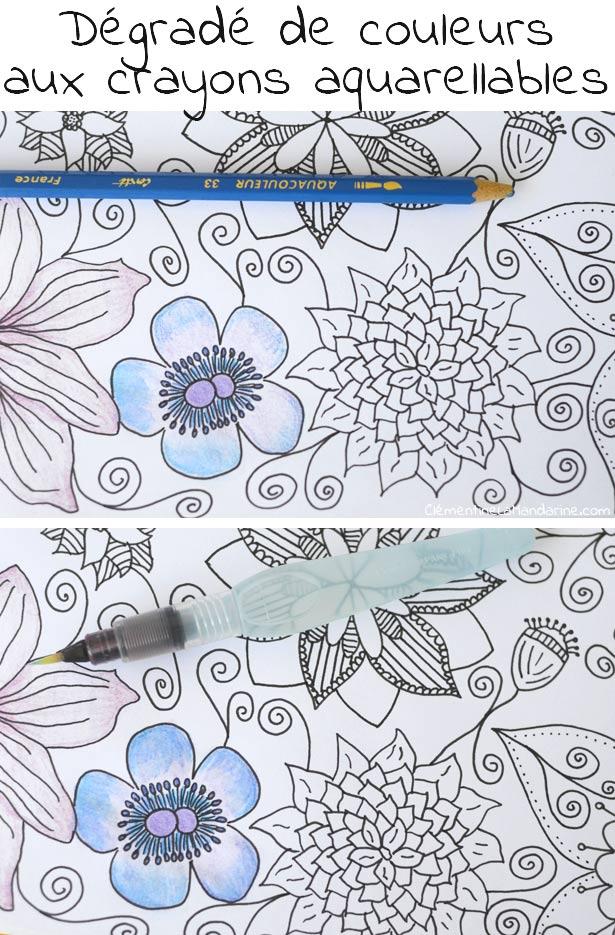 Colorier de jolis d grad s au crayon de couleur cl mentine la mandarine - Coloriage cars couleurs ...