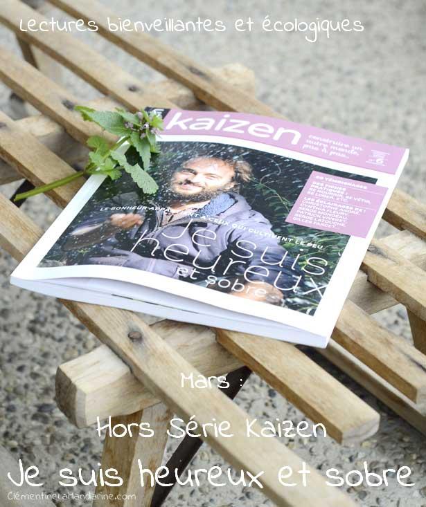 Livre du mois – Je suis heureux et sobre, Hors Série Kaizen
