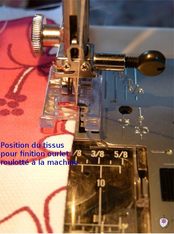 6position couture pour ourlet roulotté machine
