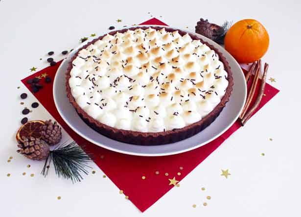 tarte-orange-chocolat-meringuee-vegane