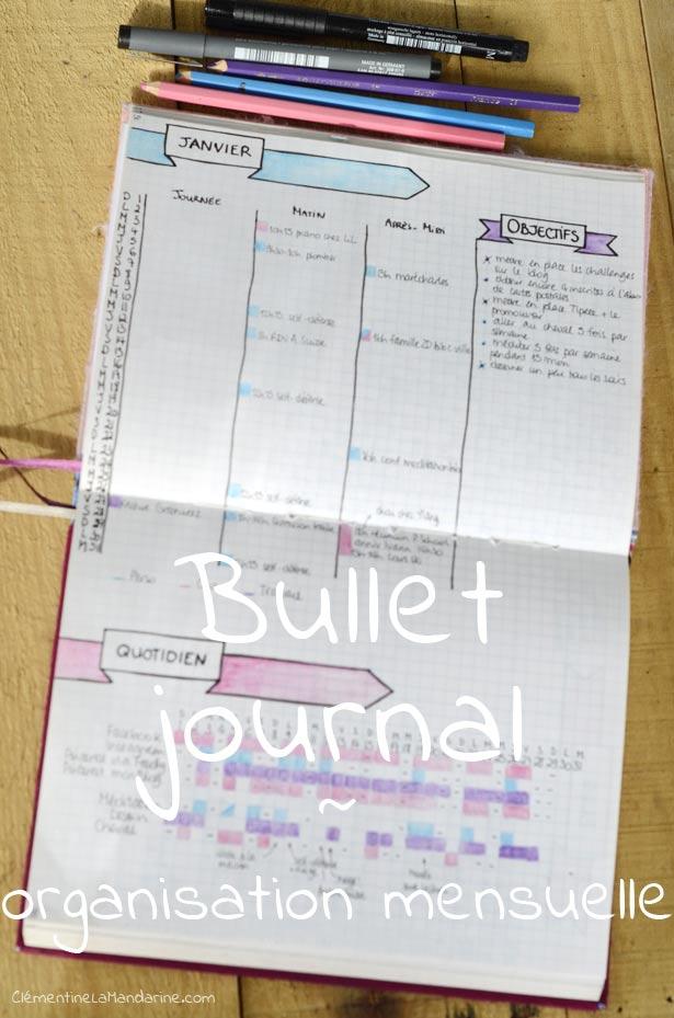 bullet-journal-organisation-mensuelle-clementine-la-mandarine