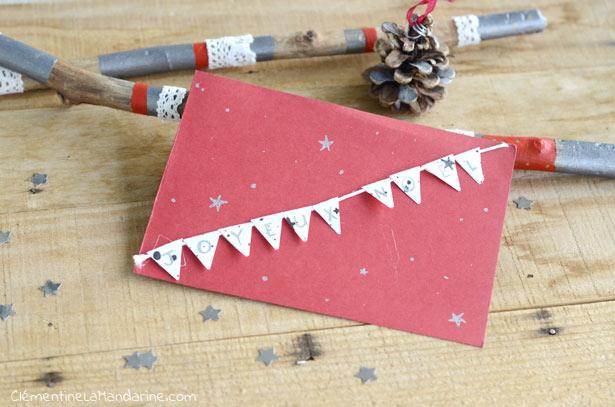 5 DIY de cartes de Noël simples
