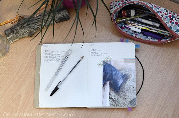 Bullet journal écolo, simple et efficient