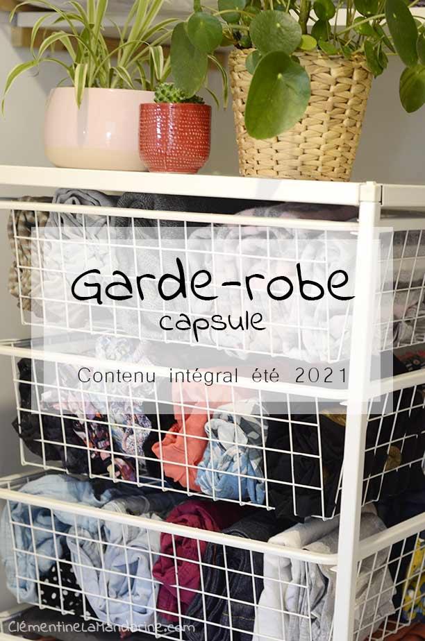 garde robe capsule, contenu intégral été 2021
