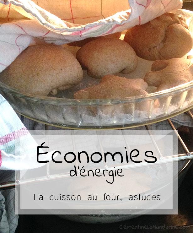 économies d'énergie pour les cuissons au four